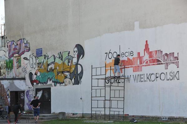 logo 760lecia na muralu , zdjęcie 1/10