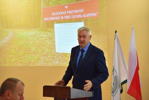 prof lucjan agapow patronem rezerwatu buki zdrois, zdjęcie 22/46